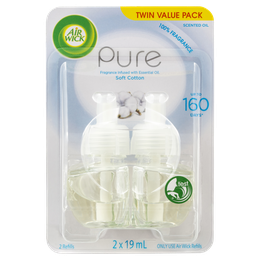 Air Wick Pure Plug In Soft Cotton Twin Refill