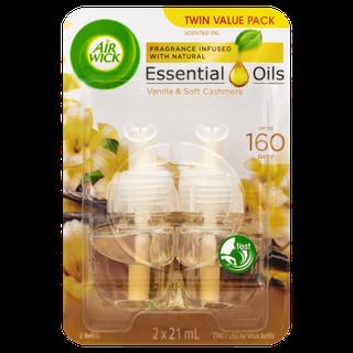 Airwick Essential Oil Electrical Refill Vanilla & Soft Cashmere