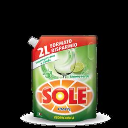 SOLE PIATTI ECORICARICA LIMONE VERDE 2000ml