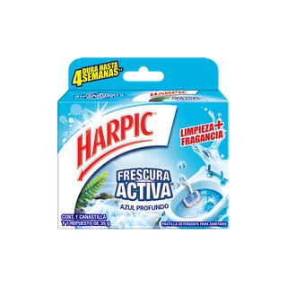 Harpic® CANASTILLA FRESCURA ACTIVA AZUL PROFUNDO, 35gr