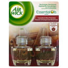 Air Wick Recharge Diffuseur Electrique Duo Pack Cannelle & Bois Précieux  ¹