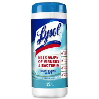 Lysol® Toallitas Desinfectantes para superficies Wipes -  Ocean Fresh