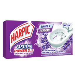Harpic Pastilhas Adesivas 2 em 1 Lavanda - 3x9g cada