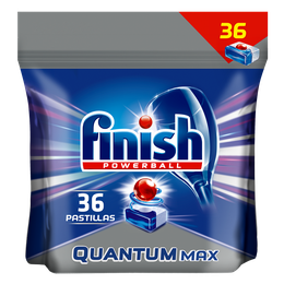 Pastillas para lavavajillas Finish Quantum Max: Regular.