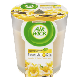 Air Wick Essential Oils Candle Vanilla & Soft Cashmere