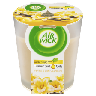 Air Wick Essential Oil Candle Vanilla & Soft Cashmere