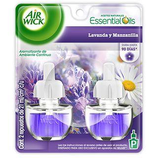 Air Wick® Eléctrico Lavanda y Manzanilla Repuesto 21 ml (x2) (1)