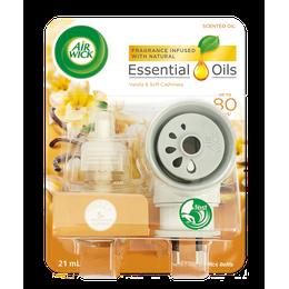 Air Wick Essential Oils Plug In Vanilla & Soft Cashmere Prime