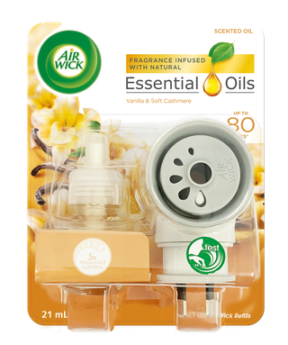Air Wick Essential Oils Plug In Vanilla & Soft Cashmere Prime