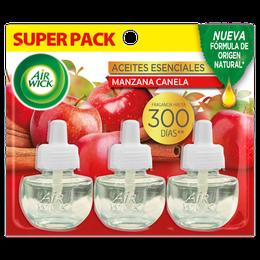 Air Wick® Eléctrico 3 Repuestos Manzana Canela 21 mL c/u