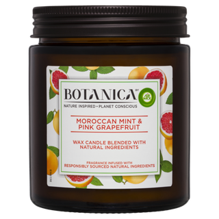 Botanica By Air Wick Candle Moroccan Mint & Pink Grapefruit 205g
