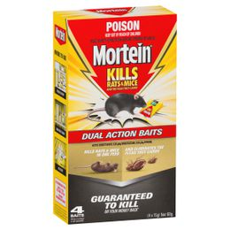 Mortein Kills Rats & Mice Dual Action Baits