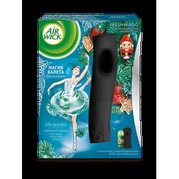 Air Wick LIFE SCENTS, Автоматический аэрозольный освежитель воздуха в комплекте со сменным баллоном Хвойная сказка 250 мл, коллекция Магия Балета