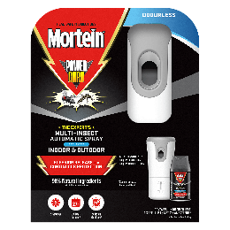 Mortein PowerGard Automatic Multi Insect Spray Odourless Prime + Refill