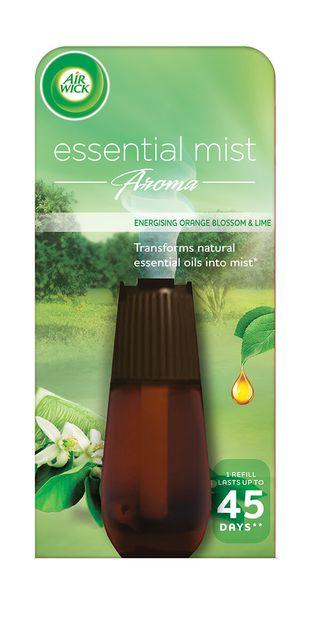 Air Wick Air Freshener Essential Mist Refill Energising Orange Blossom & Lime 20ml