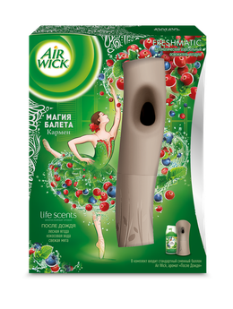 Air Wick LIFE SCENTS, Автоматический аэрозольный освежитель воздуха в комплекте со сменным баллоном После Дождя 250 мл, коллекция Магия Балета